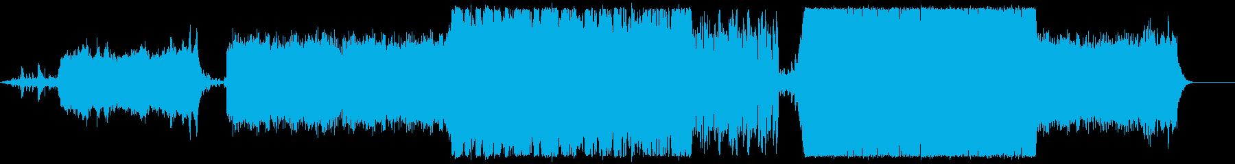 オルガンとクワイアのシネマティック曲の再生済みの波形