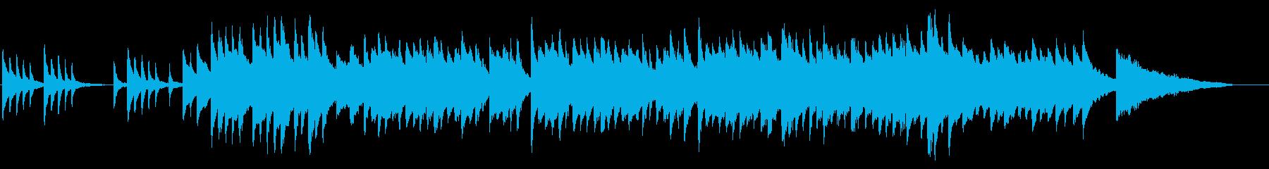 優しい感じのピアノバラードの再生済みの波形