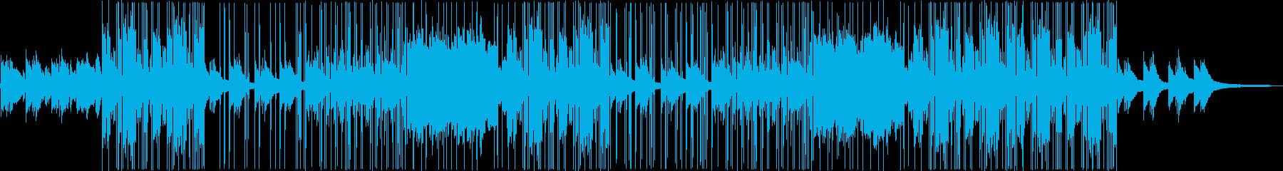 哀愁系の洋楽トラップビートの再生済みの波形
