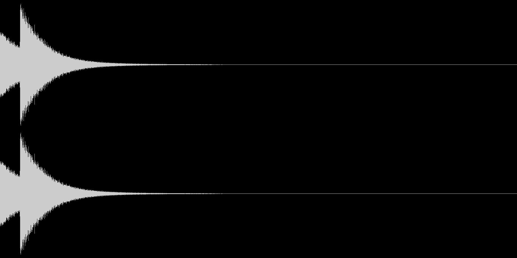 しっくりくるクイズの音 ピンポーン02の未再生の波形