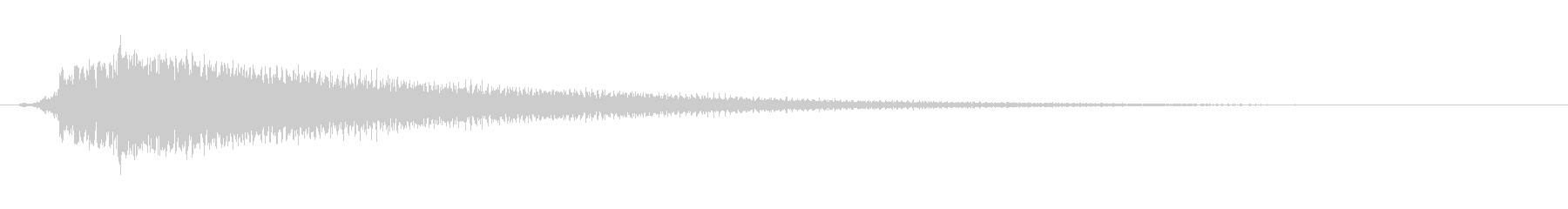 アコギのハーモニクス。決定音など。の未再生の波形