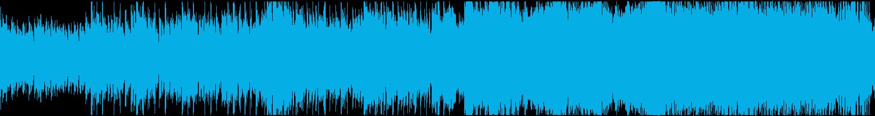 天空のシネマティック造語BGM・ループの再生済みの波形