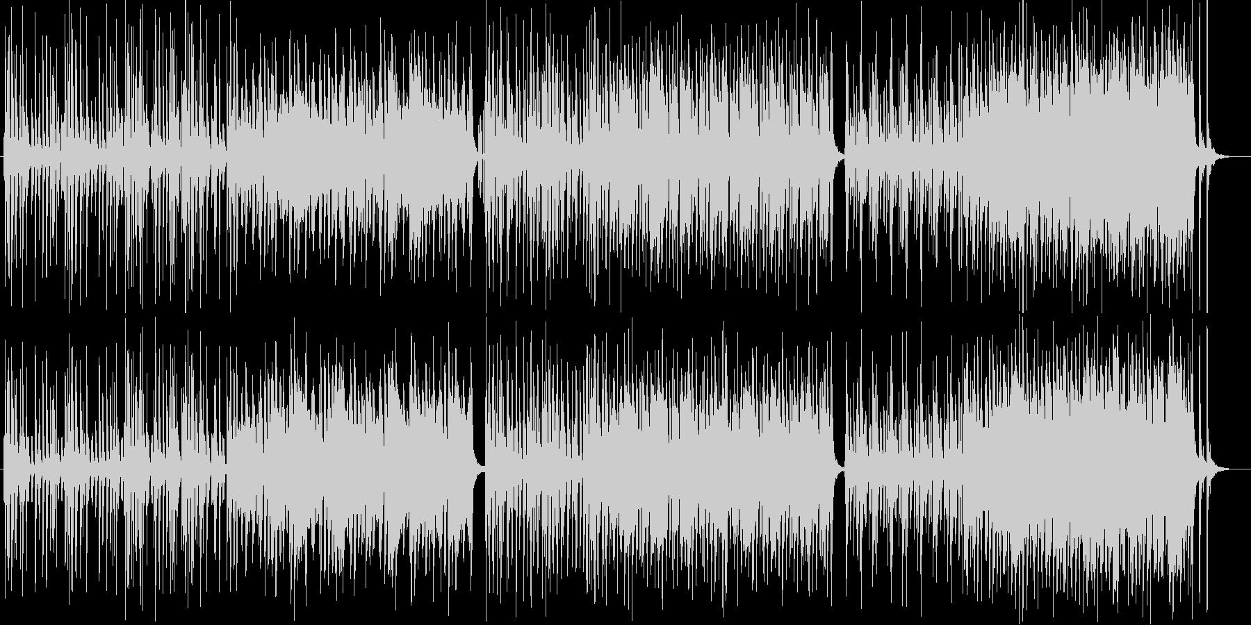 ゆったりとしたシンセ木琴などの曲の未再生の波形