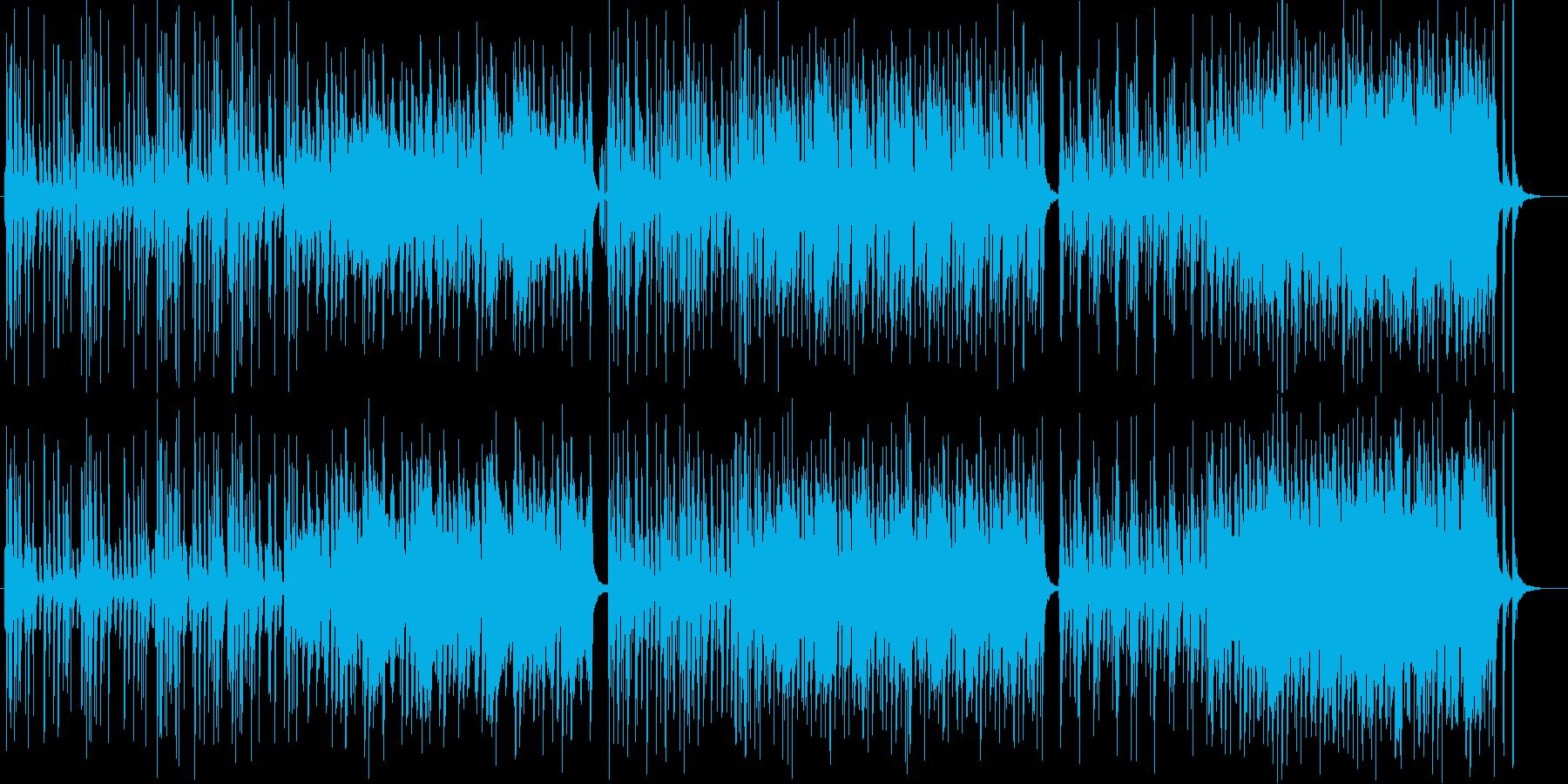 ゆったりとしたシンセ木琴などの曲の再生済みの波形