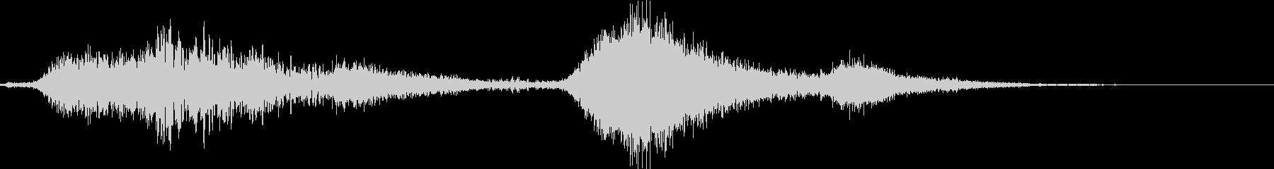 リバーブ付きヒーブメタルスクレープの未再生の波形