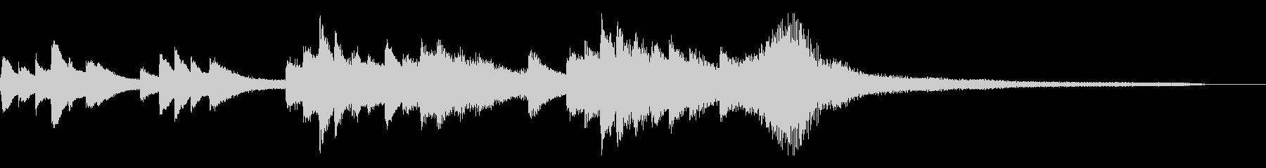 和風のジングル5a-ピアノソロの未再生の波形
