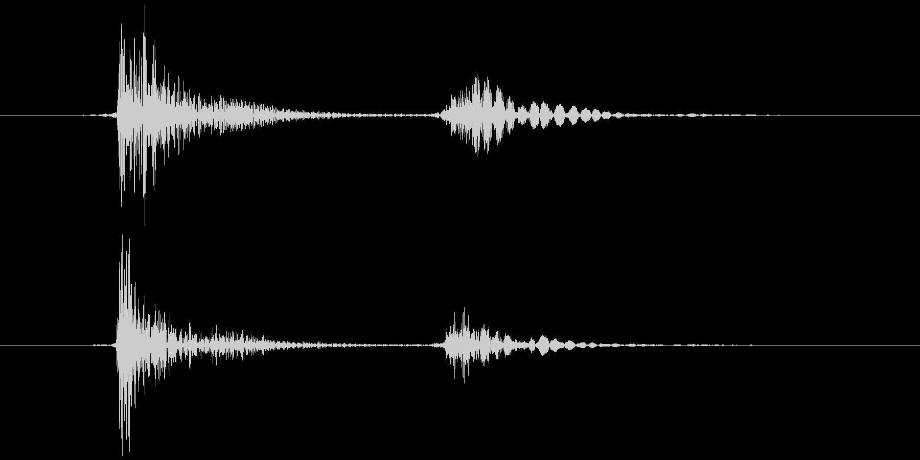 ブロック (置く、持つ等) カコッの未再生の波形