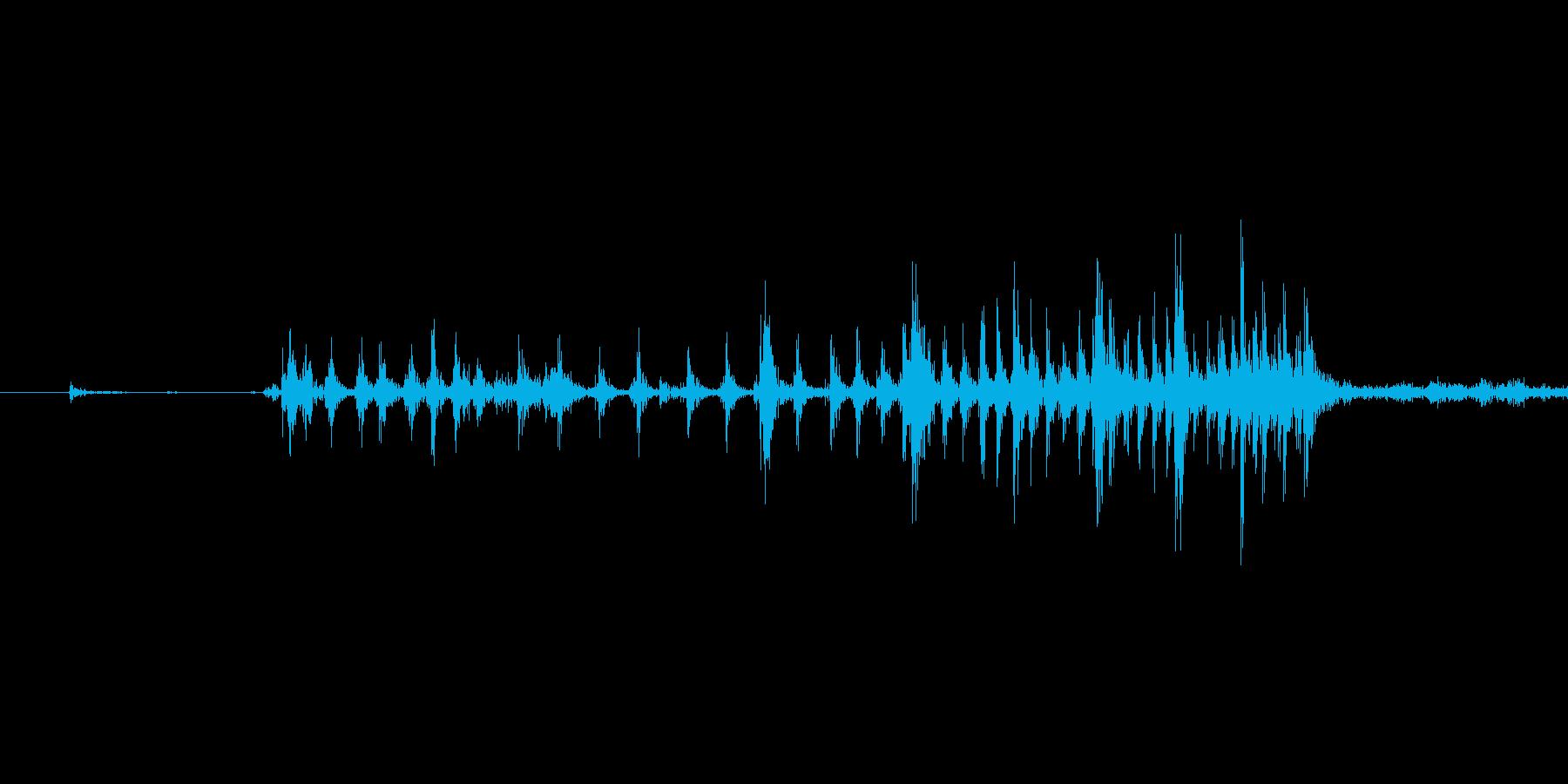 ゲームの効果音 4の再生済みの波形