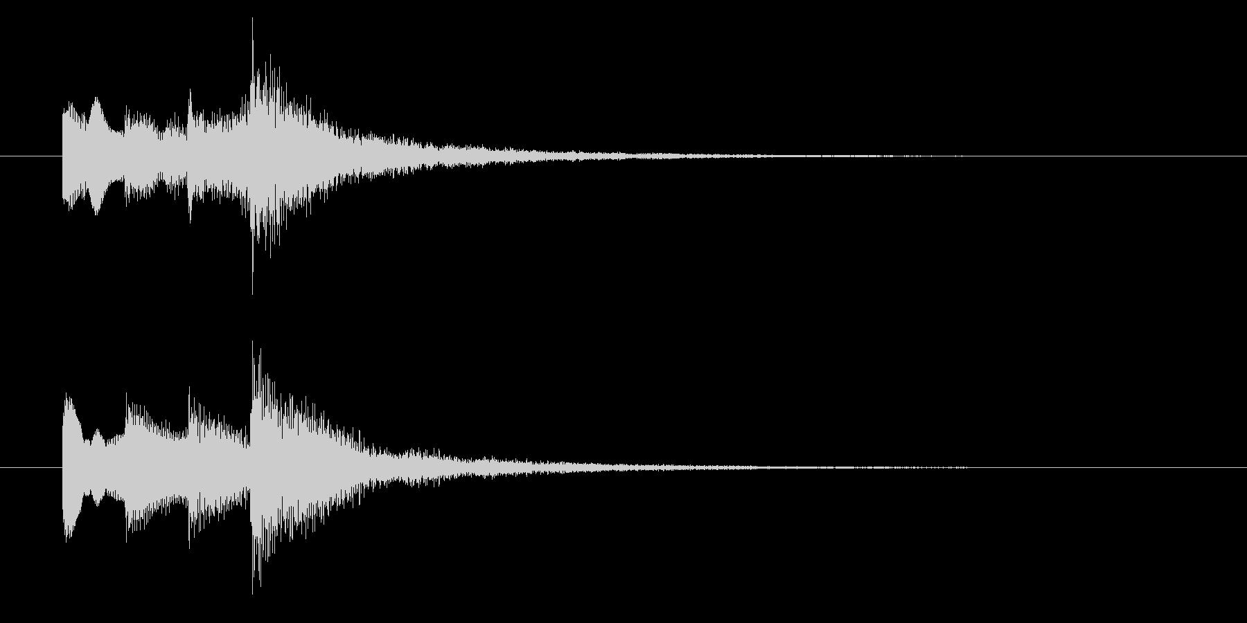 ニュースのテロップをイメージした音11の未再生の波形