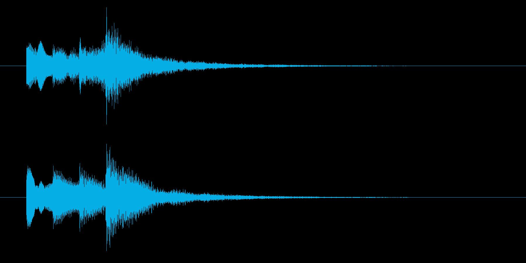 ニュースのテロップをイメージした音11の再生済みの波形