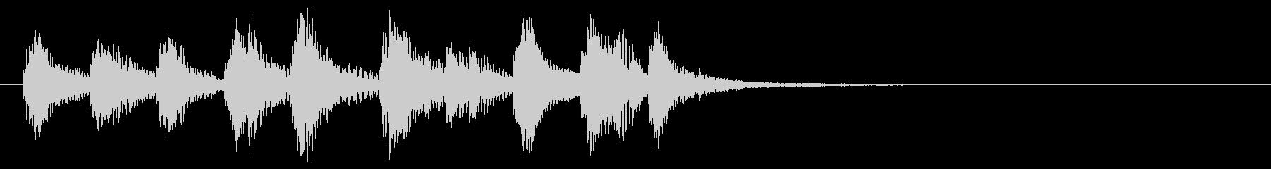 のほほんジングル015_陽気の未再生の波形