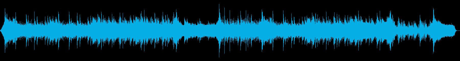 ピアノが優しく前向きな曲/ドラム無しの再生済みの波形