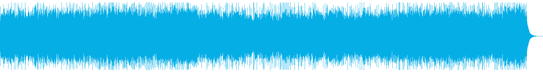 勇壮、3連系のリズムのメタルBGMの再生済みの波形