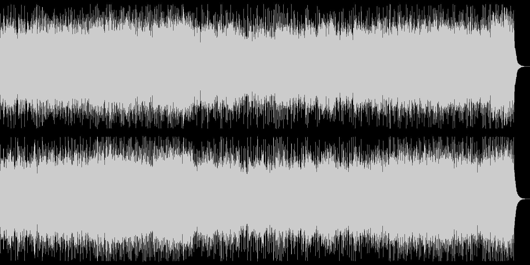 勇壮、3連系のリズムのメタルBGMの未再生の波形