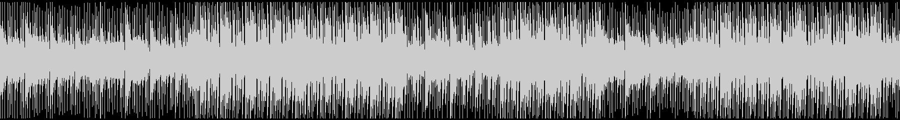 落ち着きのあるエレクトロBGMループの未再生の波形