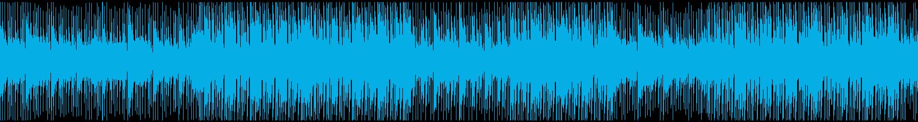 落ち着きのあるエレクトロBGMループの再生済みの波形