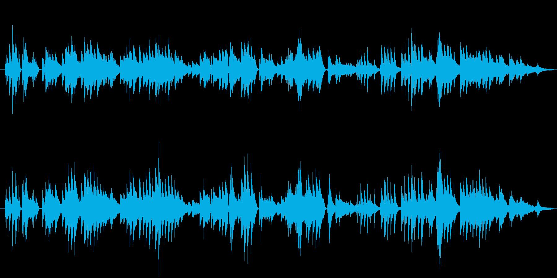 昼下がりの穏やかな時間をイメージしたピ…の再生済みの波形