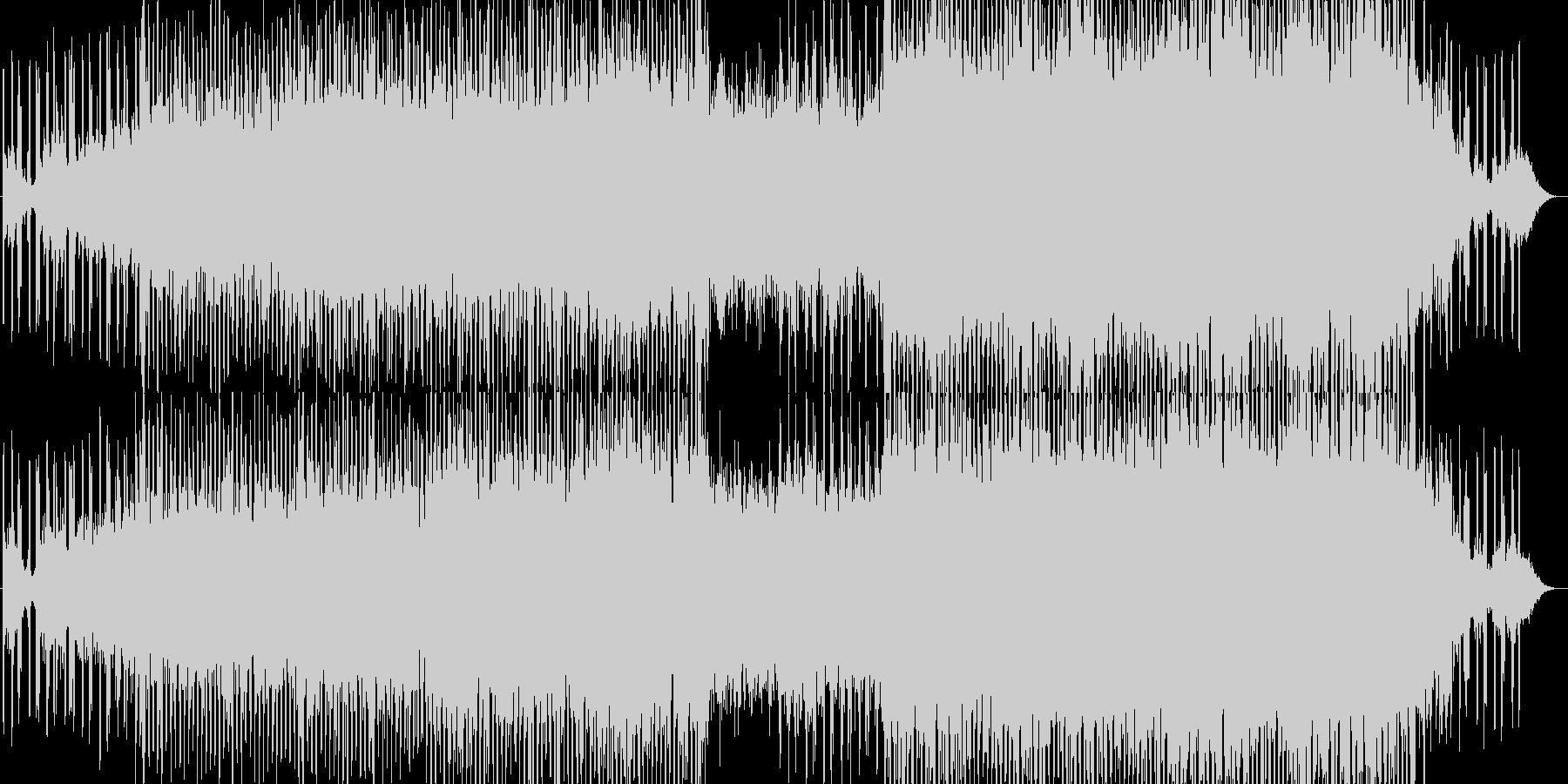 ゆったりとした風変わりなBGMの未再生の波形