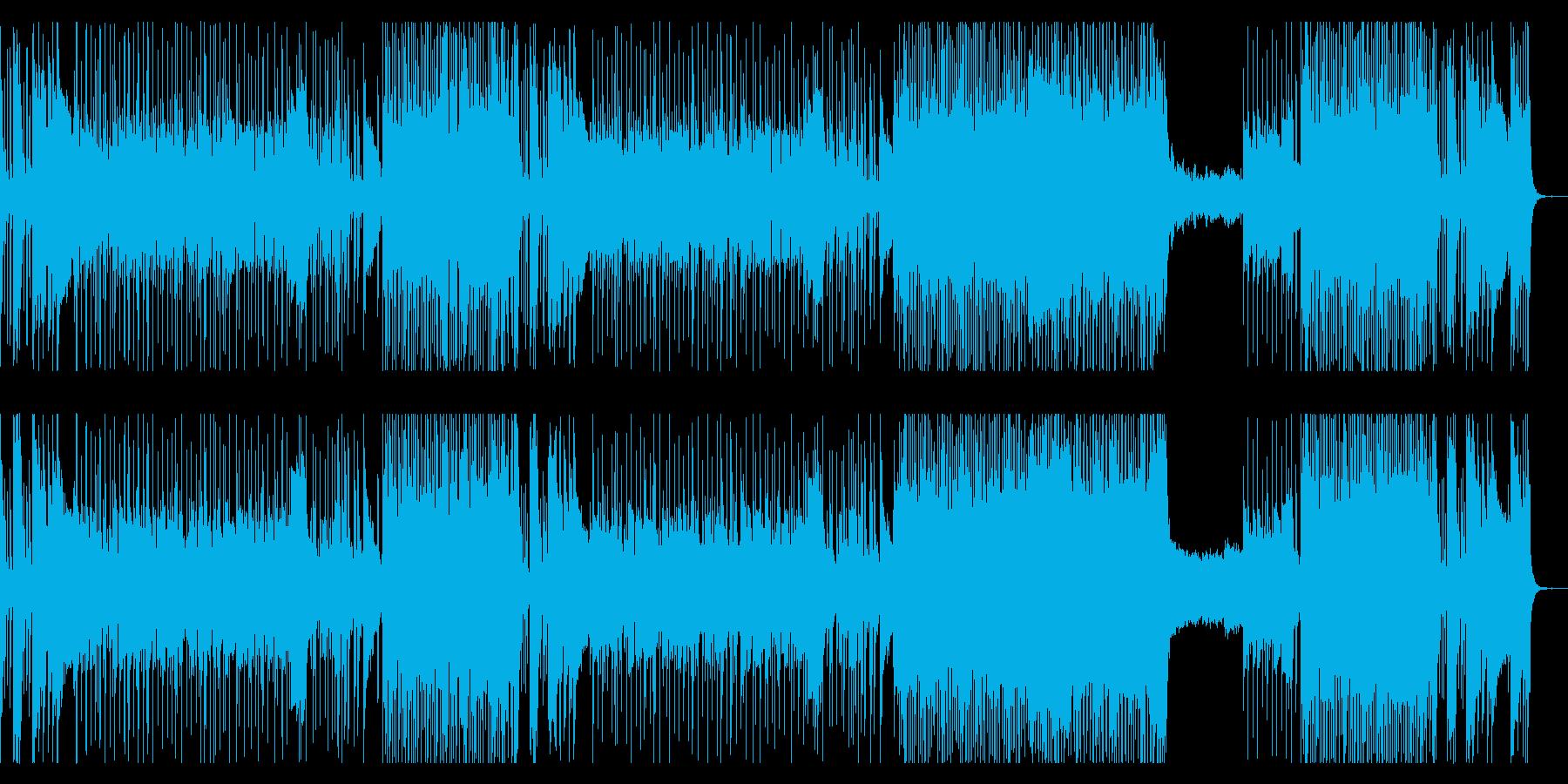 戦国時代 和風ロック 主旋律無しver.の再生済みの波形