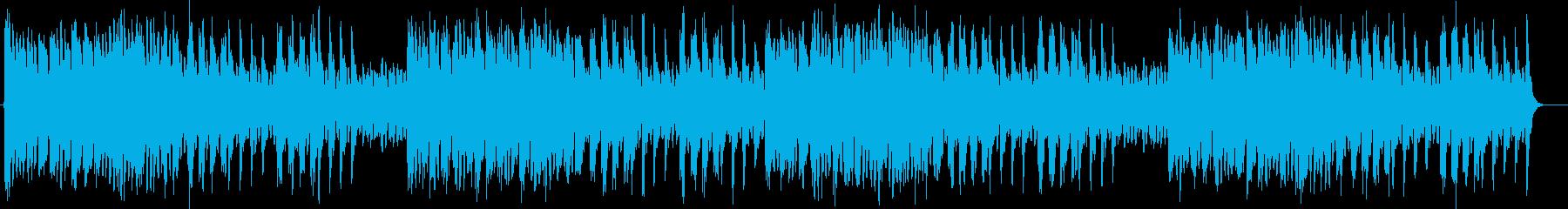 キラキラ感のあるシンセサイザーサウンドの再生済みの波形