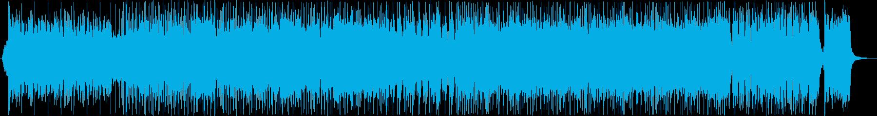 【メロディー抜き】迫力のある和風曲の再生済みの波形