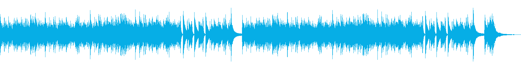 静かな夜のイメージな和風のピアノBGMの再生済みの波形