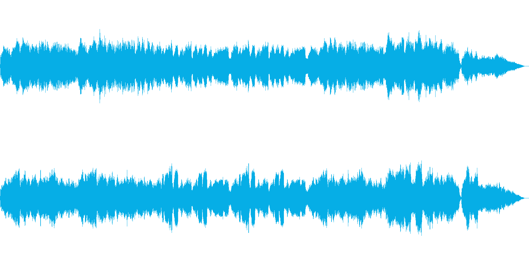 ドボルザーク 「新世界」 より「家路」の再生済みの波形