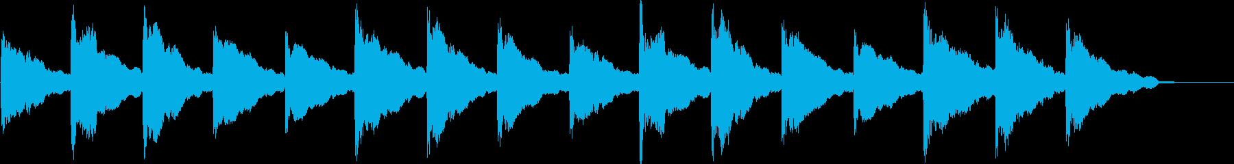 恐怖を感じるBGMの再生済みの波形