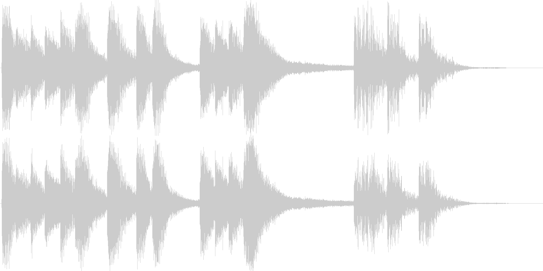 金属的な響きを持ったジングルの未再生の波形