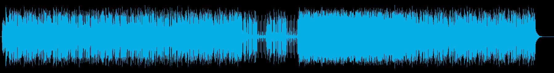 キラキラ感と楽しげなシンセサウンドの再生済みの波形