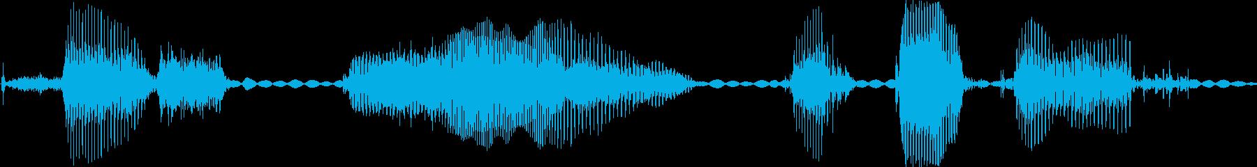 オペレーター女性用のコンピューター...の再生済みの波形