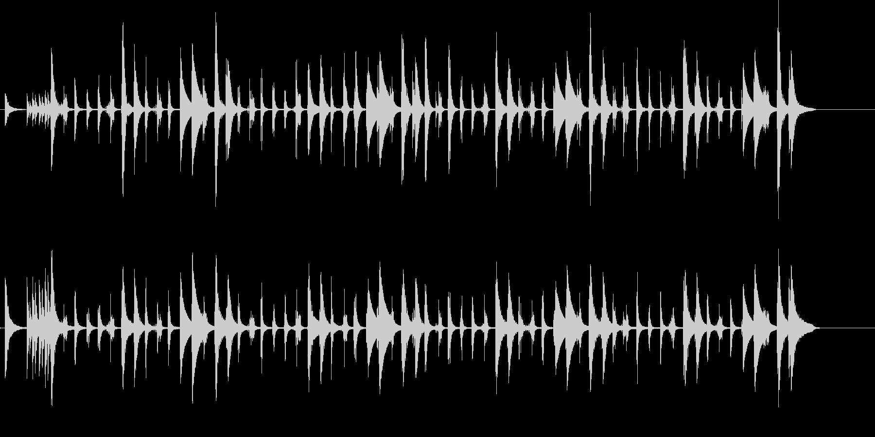 カウベルとコンガ、チャチャチャのリズムの未再生の波形
