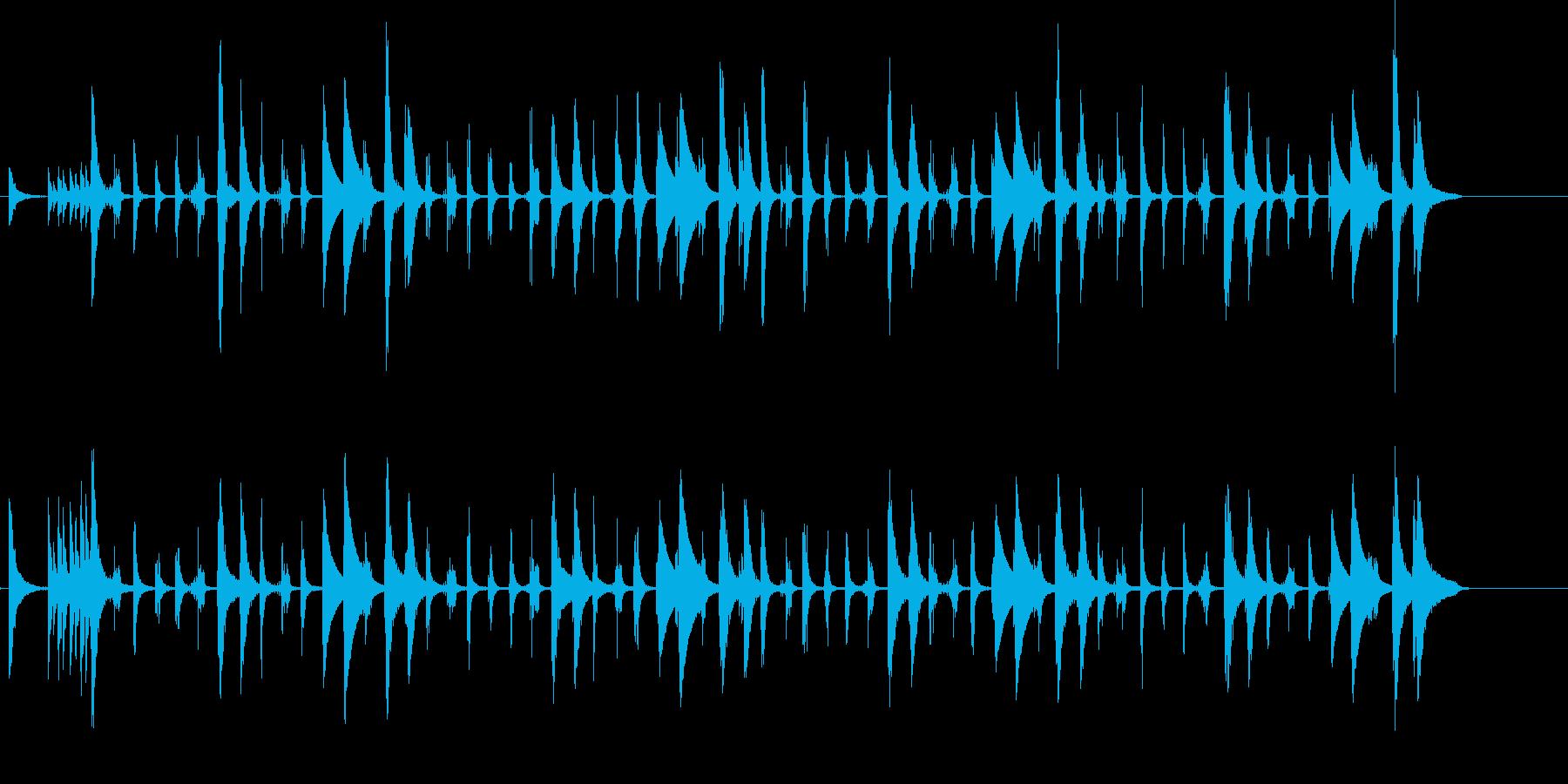 カウベルとコンガ、チャチャチャのリズムの再生済みの波形
