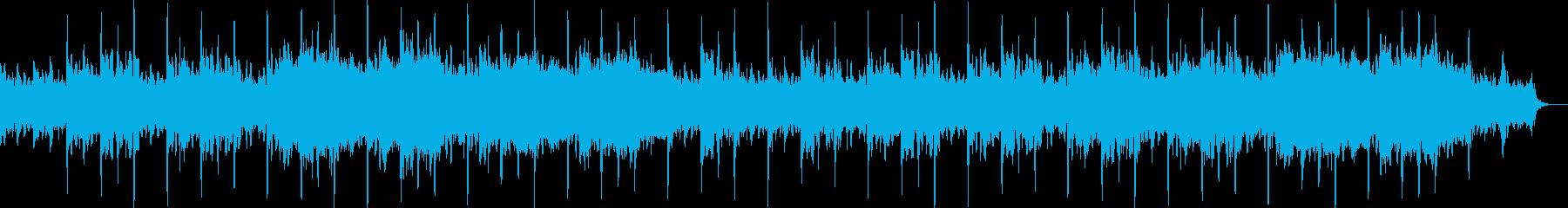 ファンタジー物語風の美しいヒーリング曲の再生済みの波形