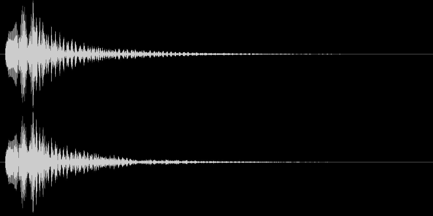 明るめのマリンバのアルペッジオの未再生の波形