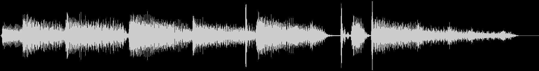 ピアノ・ジャズ・ドラム・ジングルの未再生の波形