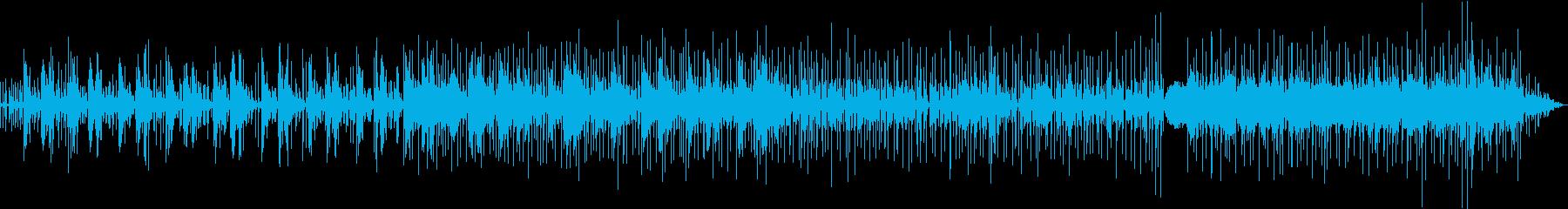 のんびりとしたボサノバ風BGMの再生済みの波形