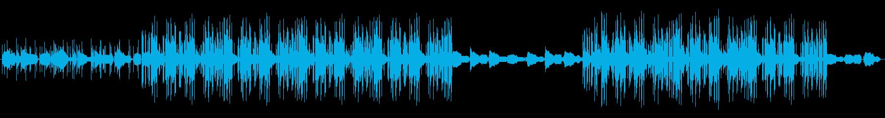 お洒落なギターのLoFiHiphopの再生済みの波形