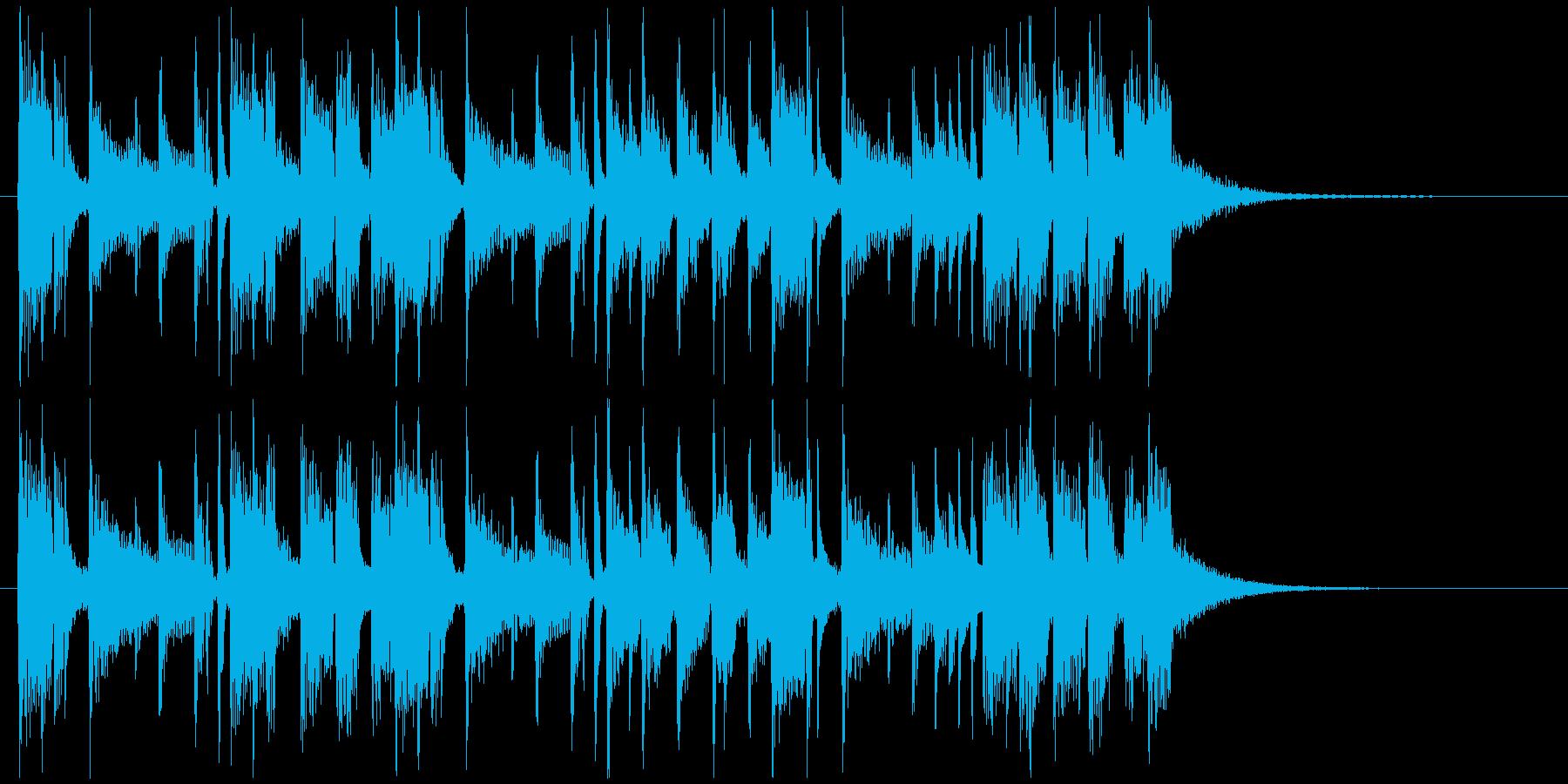 勢いと迫力のあるシンセドラムジングルの再生済みの波形