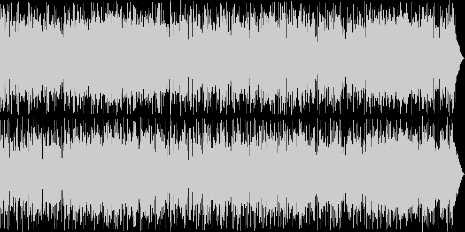 ムードのあるエレキギターの曲の未再生の波形