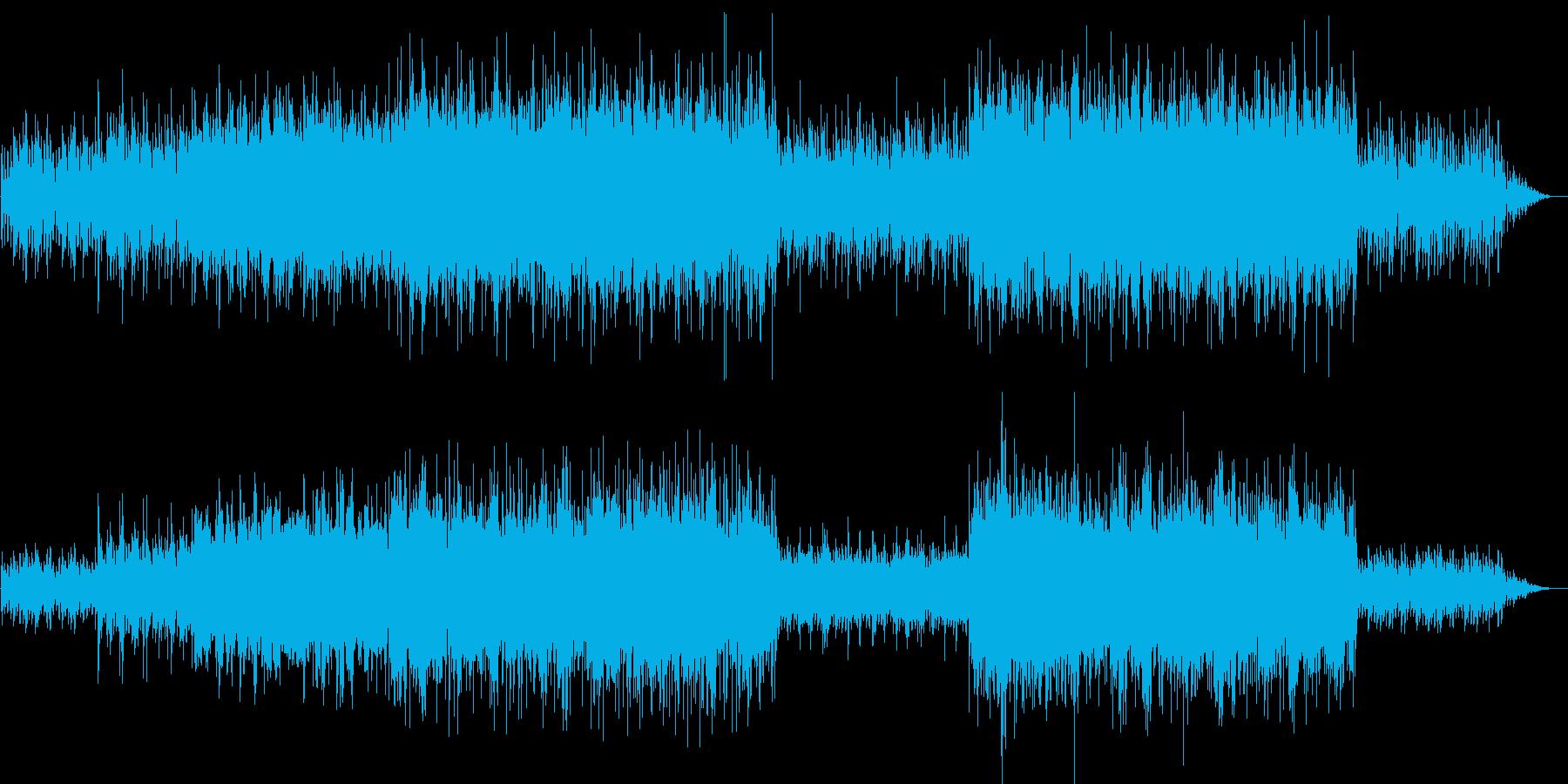 軽快でやさしいメロディーの再生済みの波形