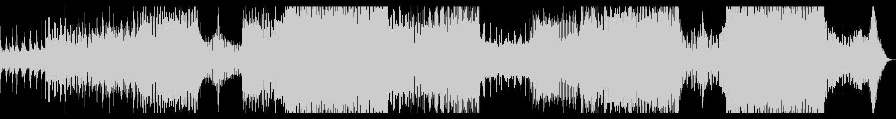 厚いシンセサイザーとピアノのトランスの未再生の波形