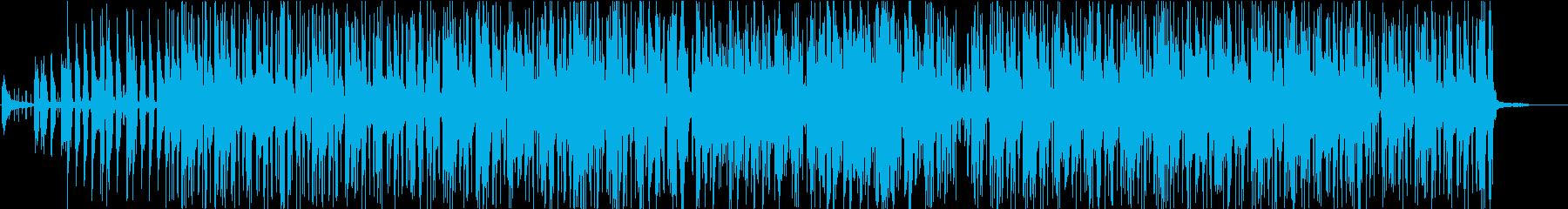 フュージョンでジャズな曲の再生済みの波形