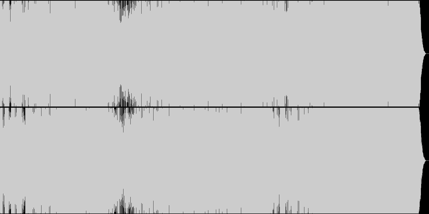 「威風堂々」トランス系アレンジの未再生の波形