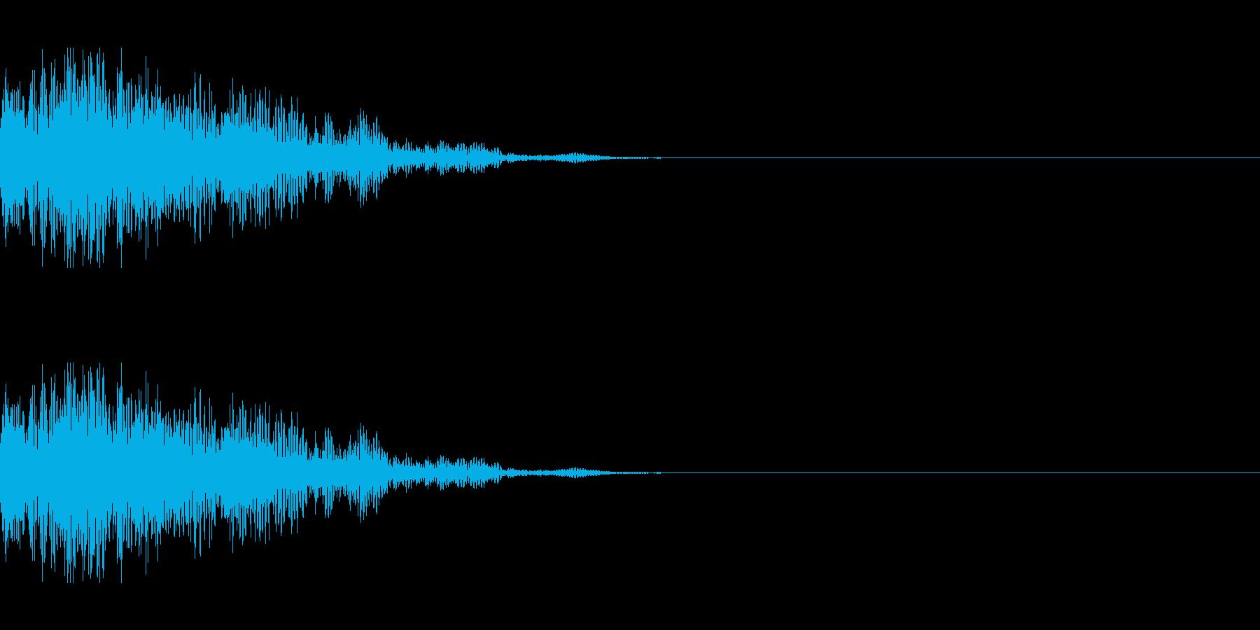 爆発(中規模)の再生済みの波形