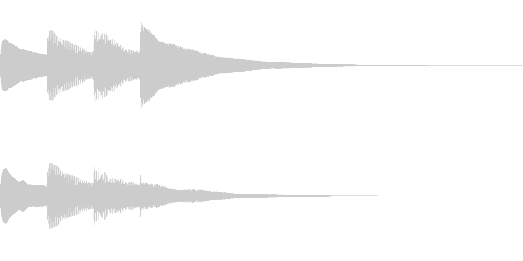 お知らせ・アナウンス音B上昇(普通)02の未再生の波形