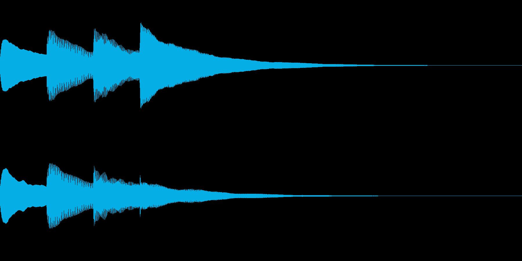 お知らせ・アナウンス音B上昇(普通)02の再生済みの波形