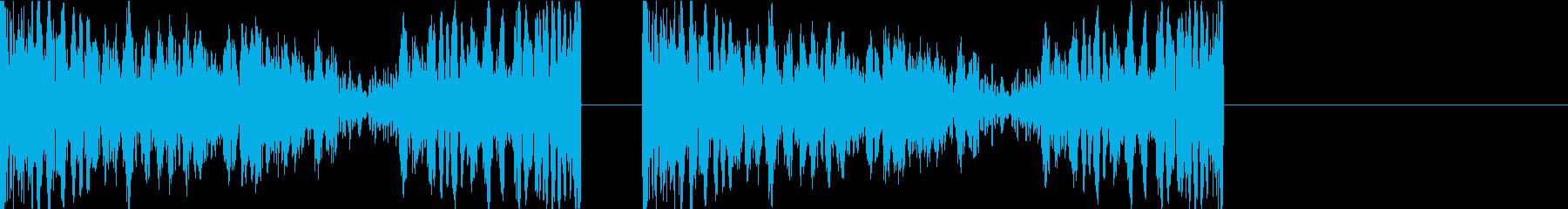 DJプレイ スクラッチ・ノイズ 266の再生済みの波形