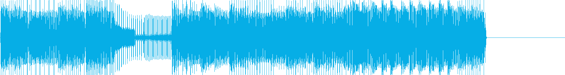 レトロゲームなチップチューンジングル8の再生済みの波形