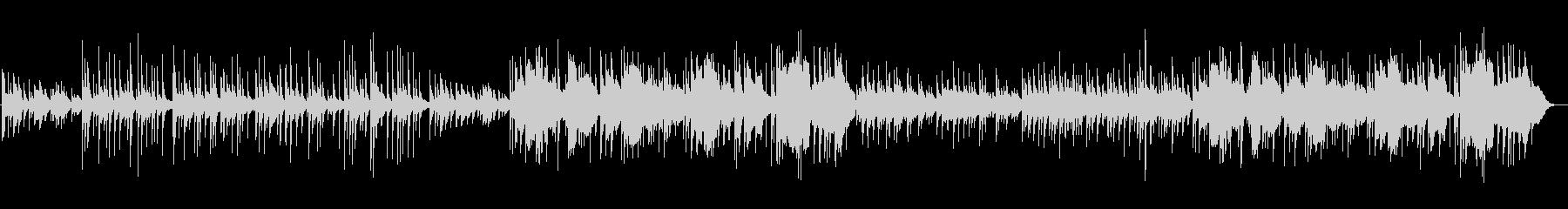 和風の旋律が特徴的な楽曲の未再生の波形